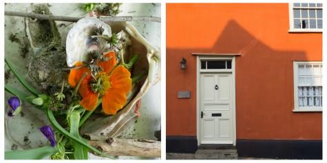 Orange Flower and House